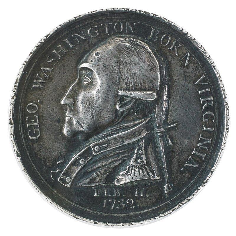 1790 SILVER MANLY MEDAL BAKER NO. 61