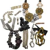 COLLECTION OF FASHION AND SILVER JEWELRY