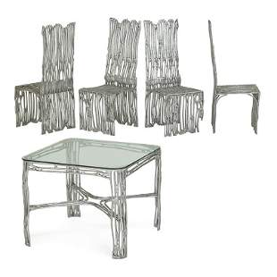 ARTHUR COURT Dining table and four chairs