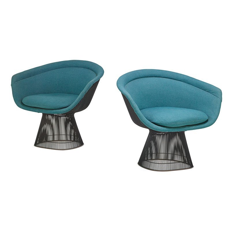 WARREN PLATNER; KNOLL Pair of armchairs