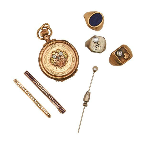 COLLECTION OF GENT'S GOLD JEWELRY OR ACCESSORIES