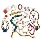 COLLECTION OF SOUVENIR AND CRAFT JEWELRY
