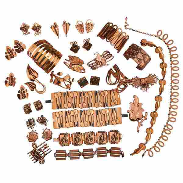 COLLECTION OF RENOIR COPPER JEWELRY