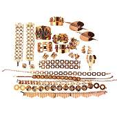 COLLECTION OF COPPER RENOIR AND REBAJE JEWELRY