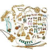 GROUP OF COSTUME JEWELRY, INCLUDES MIRIAM HASKELL