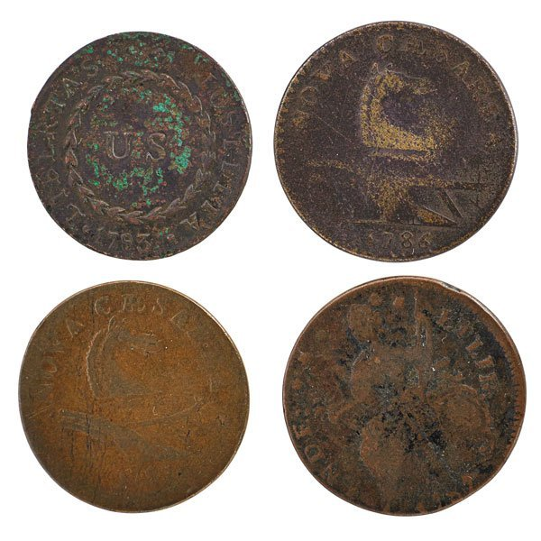 U.S. POST COLONIAL COPPER COINS