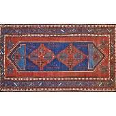 CAUCASIAN KAZAK Hand-knotted wool rug