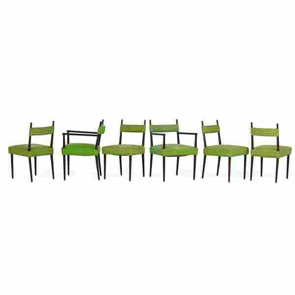TOMMI PARZINGER Six dining chairs