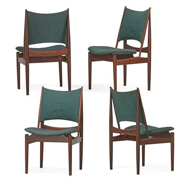 FINN JUHL; NIELS VODDER Four Egyptian chairs
