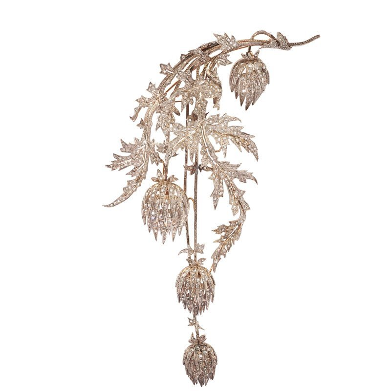 ANDRE KAUFFER DIAMOND THISTLE CORSAGE ORNAMENT