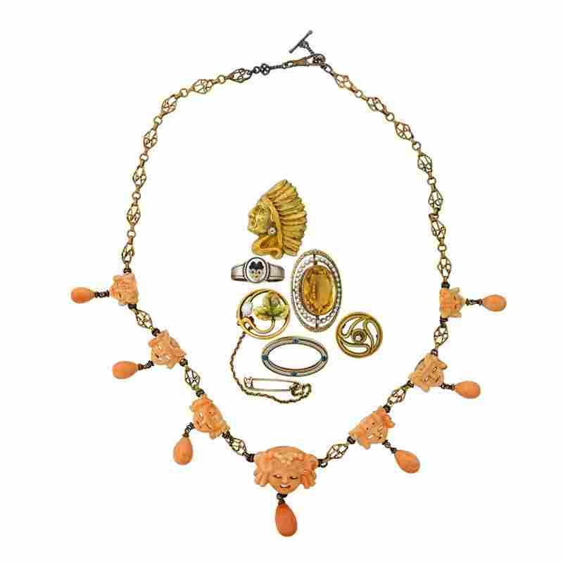 JEWELRY COLLECTION, CA. 1900
