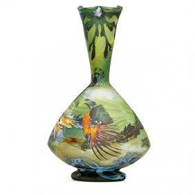Muller Freres Fine Large Aquamarine Vase