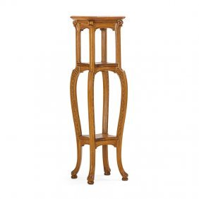 Belgian Art Nouveau Three-tiered Stand