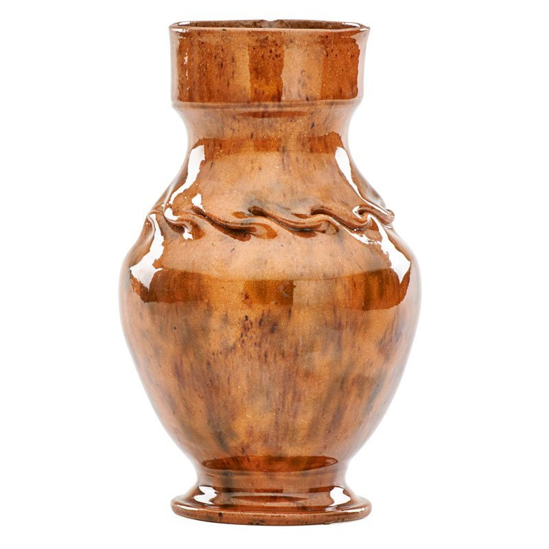 GEORGE OHR Tall vase with in-body twist