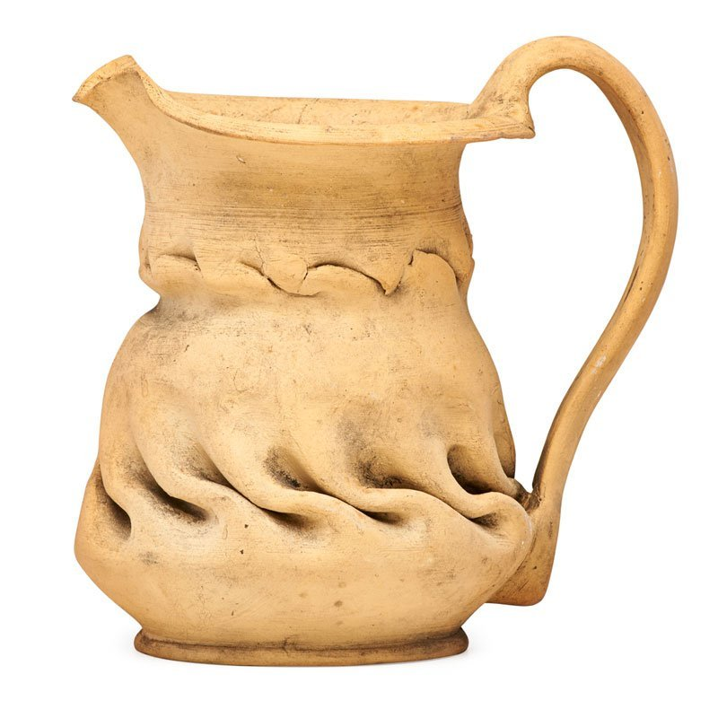 GEORGE OHR Bisque pitcher