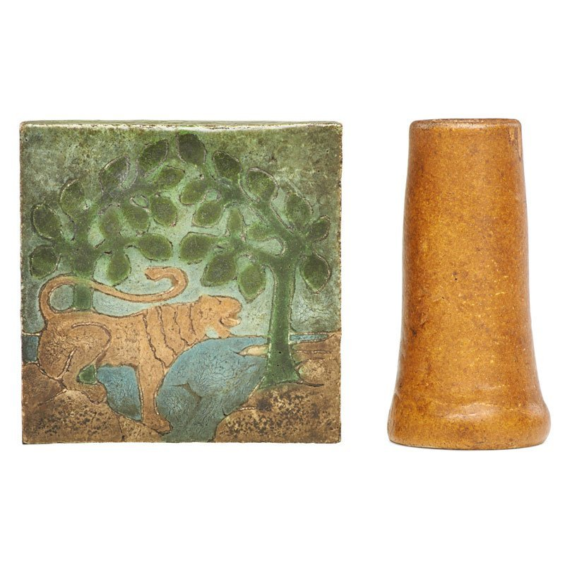 GRUEBY Bud vase and tile