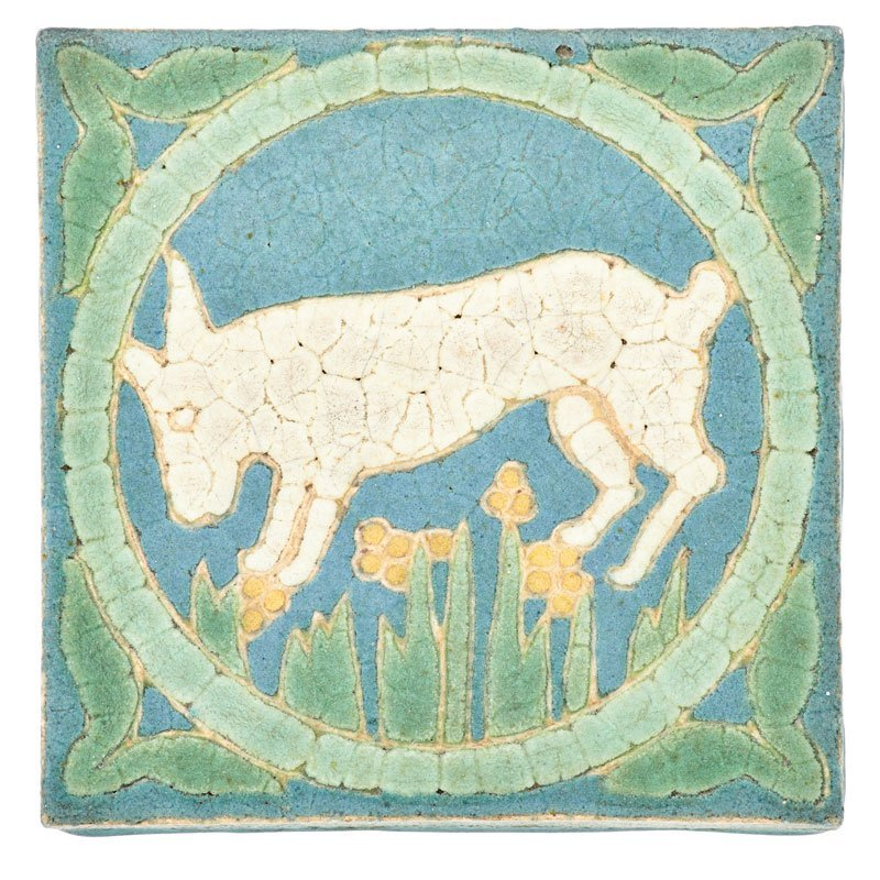 GRUEBY Tile with goat