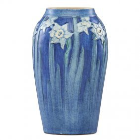 A.f. Simpson; Newcomb College Vase With Jonquil