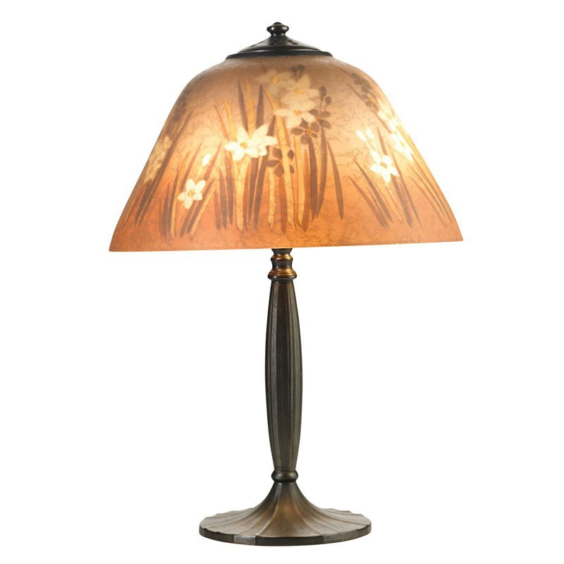 HANDEL Table lamp, daffodil shade