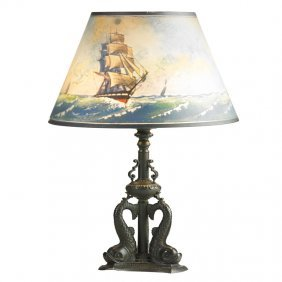 Pairpoint Fine Nautical-themed Table Lamp