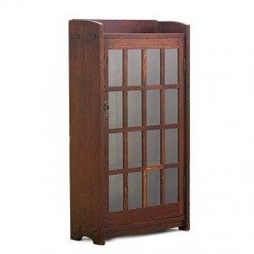 Gustav Stickley Early Single-door Bookcase