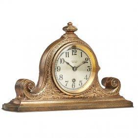 Tiffany Studios Gilt Bronze Clock