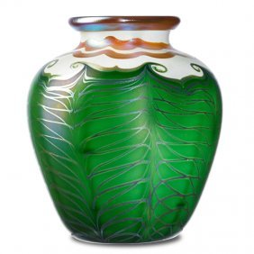 Quezal Fine Large Glass Vase