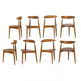 Hans Wegner; Fritz Hansen Heart Chairs