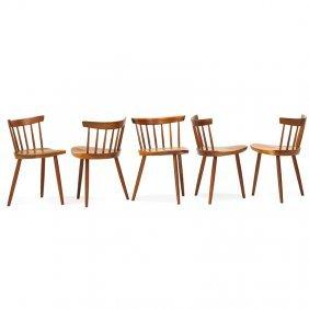 George Nakashima Five Early Mira Chairs