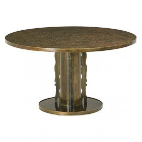 Philip And Kelvin Laverne Etruscan Spiral Table