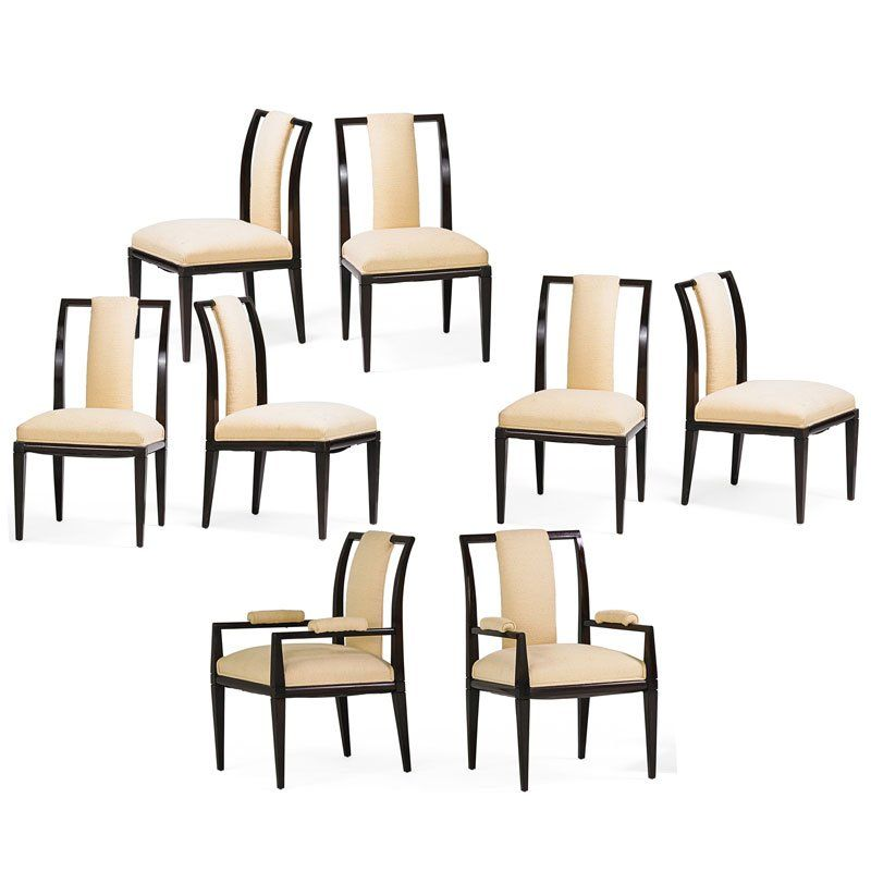 TOMMI PARZINGER Eight dining chairs
