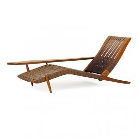 George Nakashima Long Chair With Arm Rest