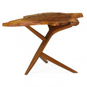 George Nakashima Conoid Cross-legged End Table