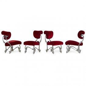 Jordan Mozer Four Iridium Ballet Chairs