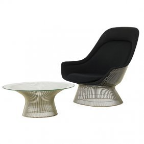 Warren Platner Lounge Chair And Coffee Table