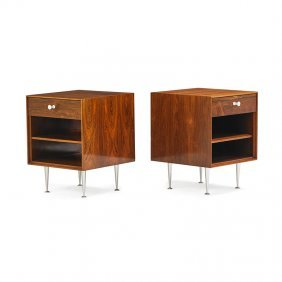 George Nelson; Herman Miller Pair Of Nightstands