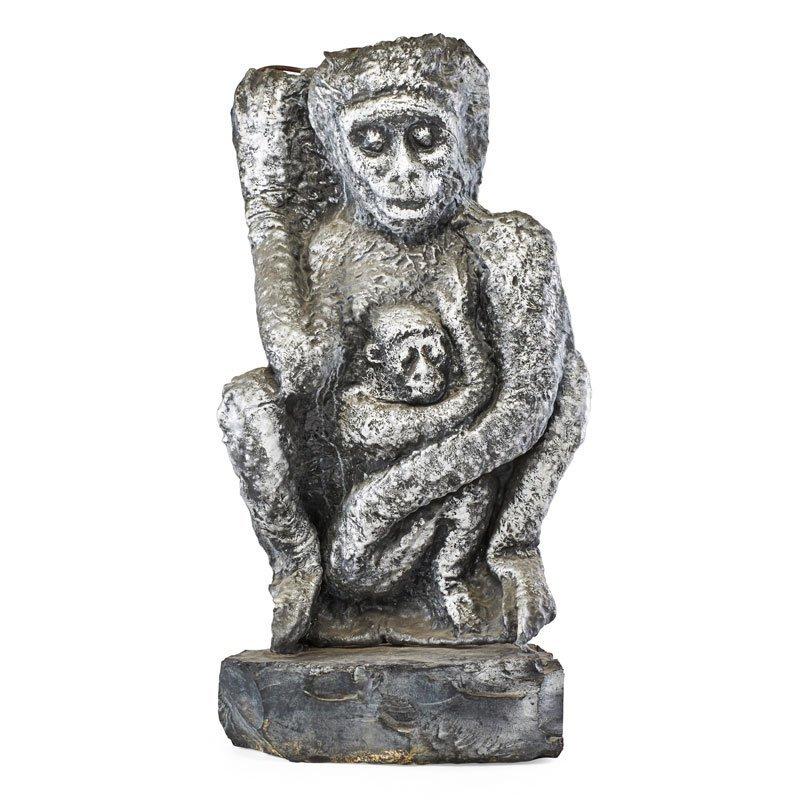 "WAYLANDE GREGORY Sculpture, ""Monkeys"""