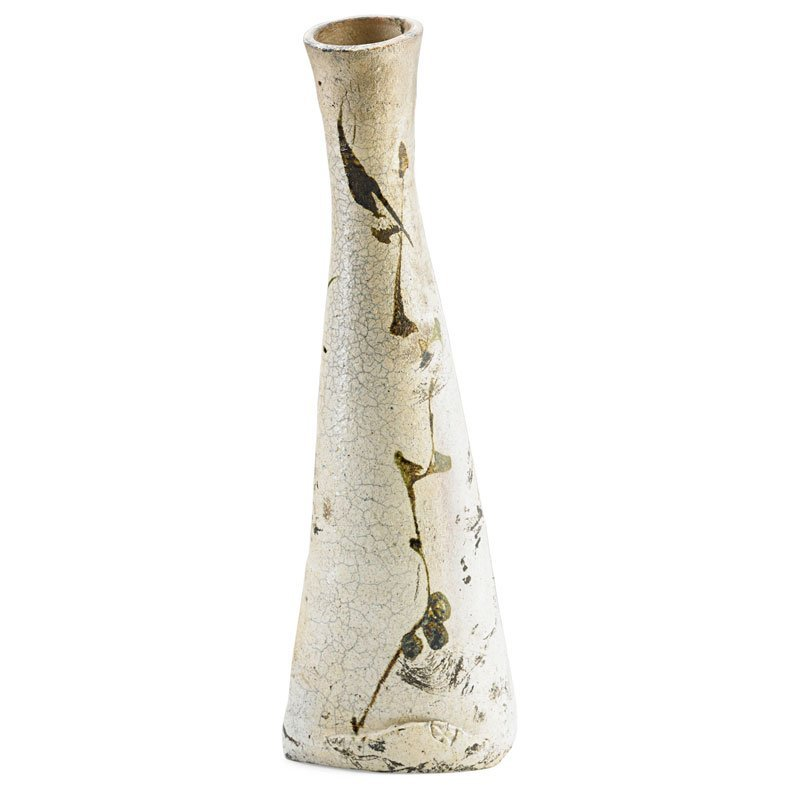 PAUL SOLDNER Tall raku-fired vase