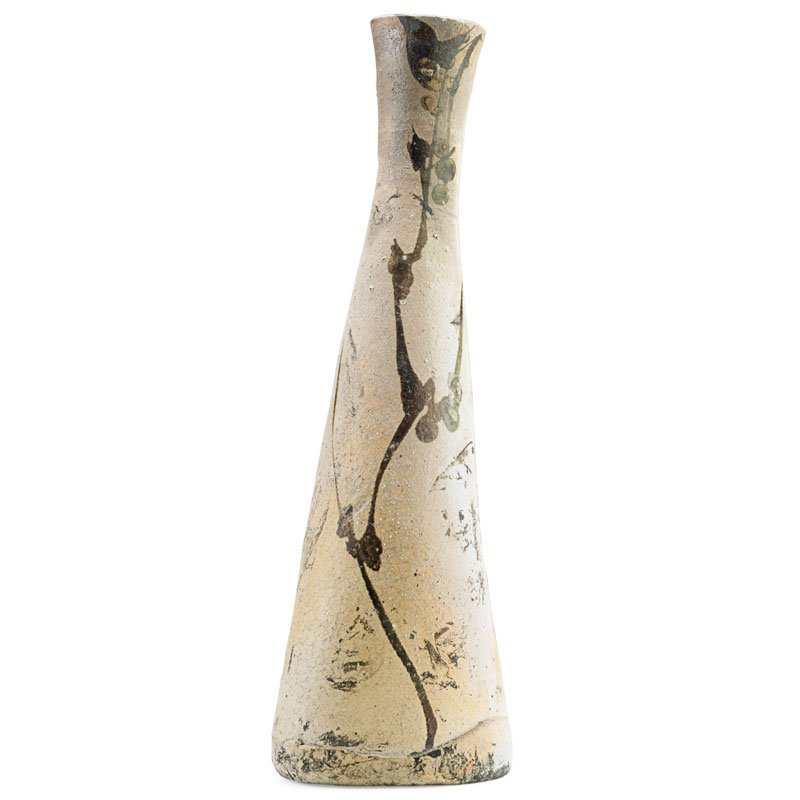 PAUL SOLDNER Tall raku-fired vase - 2