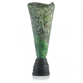 Colin Heaney Tall Glass Sculpture