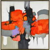 TWO CONTEMPORARY ABSTRACT PAINTINGS