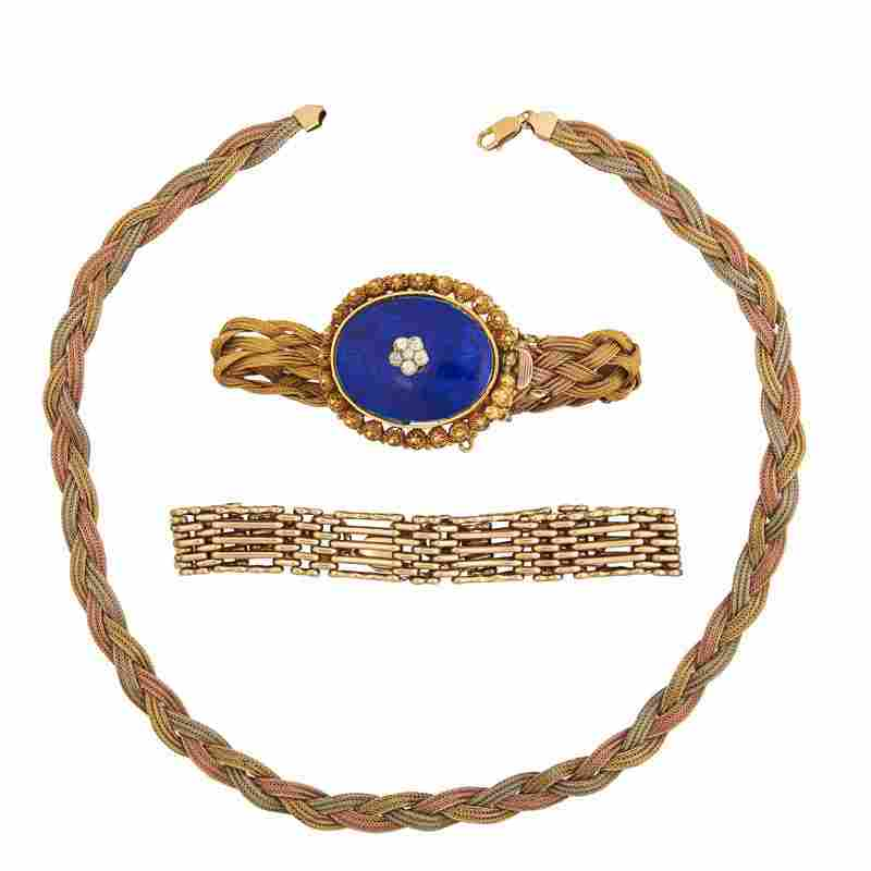 COLLECTION OF ANTIQUE OR MODERN GOLD JEWELRY