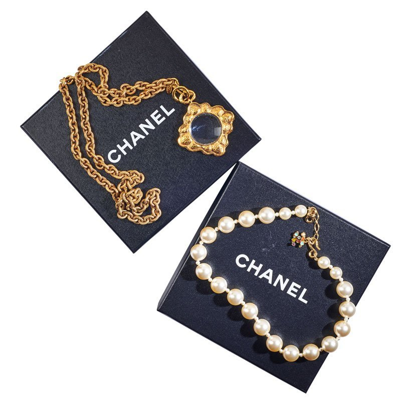 TWO CHANEL COSTUME NECKLACES