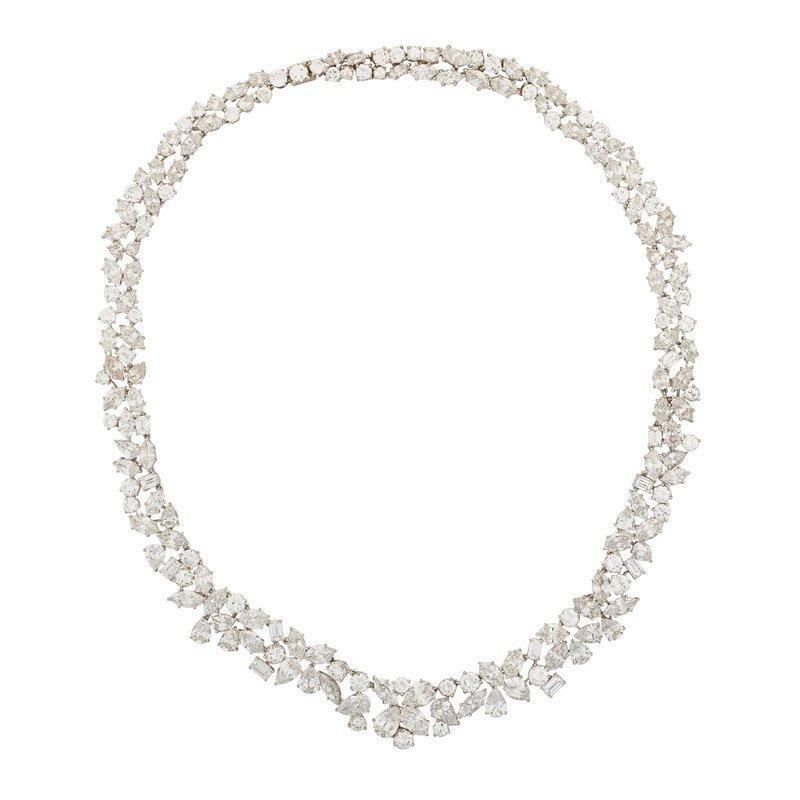 MARIANNE OSTIER DIAMOND & PLATINUM NECKLACE