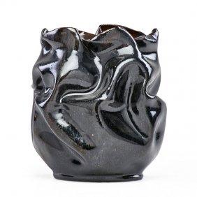 George Ohr Large Crumpled Vase