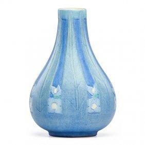 Sadie Irvine; Newcomb College Vase With Spiderwort