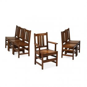 L. & J.g. Stickley Six Dining Chairs