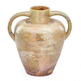 Keller & Guerin Large Vase With Turtles