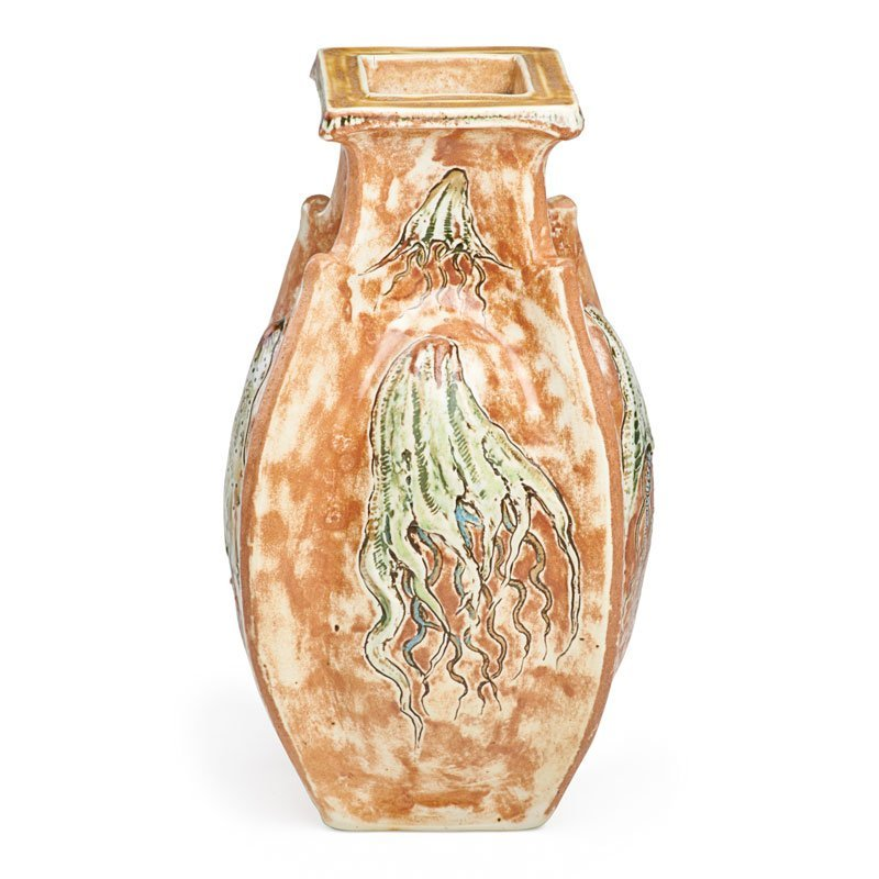 MARTIN BROTHERS Vase with jellyfish - 3