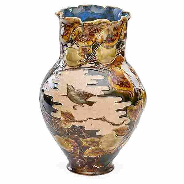 F. BUTLER; ROYAL DOULTON Fine vase